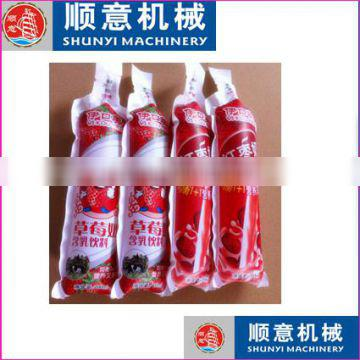 150ml Mango Flavoured Instant Drink liquid in formed/shaped pouch/bag/ sachet packaging fill and seal packing machine