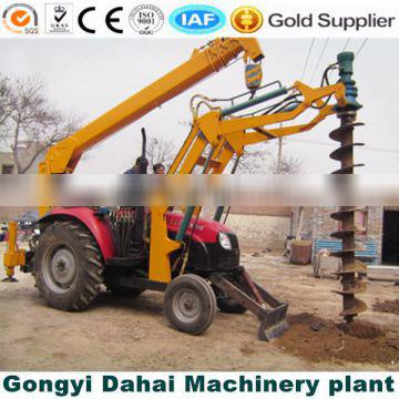 Tractor Mounted pole auger pile driver
