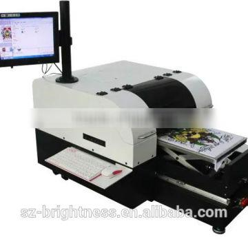 8 colors cheap eco solvent t shirt printing machine