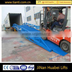 CE mobile hydraulic portable truck loading ramp