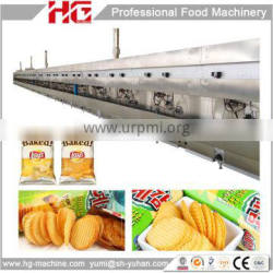 High efficient full automatic baking chips production line