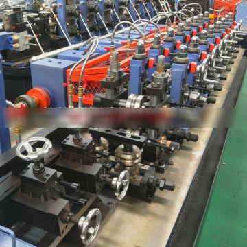 carbon steel tube mill high frequency welded square tube production line