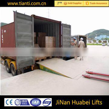 hydraulic fixed warehouse container ramp with CE
