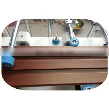 PUR / PVC / PET / hot melt glue veneer profile wrapping machine with CE