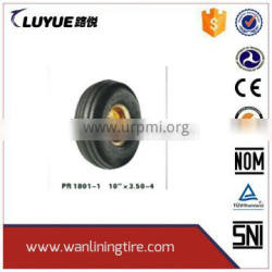 pneumatic rubber dolly metal core wheel 10x3.00-4