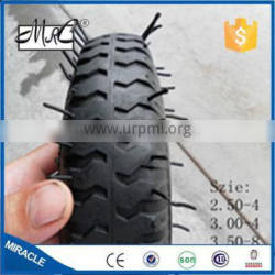Cheap wholesale small pneumatic wagon wheelbarrow wheel tyre rubber wheelbarrow tire 2.80/2.50-4