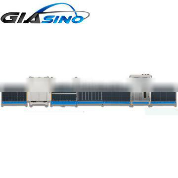 Insulating glass production line, cleaning machine, glass drying machine