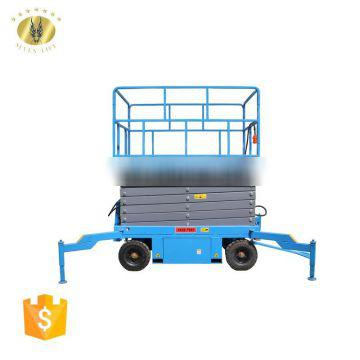 7LSJY Shandong SevenLift 8m electric hydraulic manual genie scissor portable jlg aerial lift platform