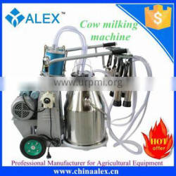 New type single bucket milking machine for cows for sale
