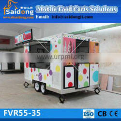 Can do customized 12 models mobile food cart for sale
