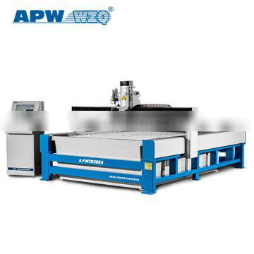 APW Auto Abrasive Delivery System Water Jet Marble Granite Foam Stone Grooving CNC Cutter Machine