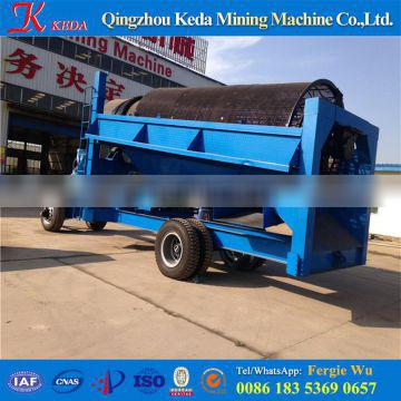 River sand mobile gold trommel scrubber price for alluvial gold washing