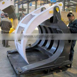 Customized PC400-6 Excavator Log Grapple, PC400 Wearable Log Fork for sale