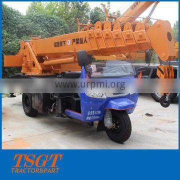 3 ton tricycle chassis mobile crane for sale price