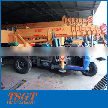 3 ton tricycle mounted hydraulic crane made in China lower price