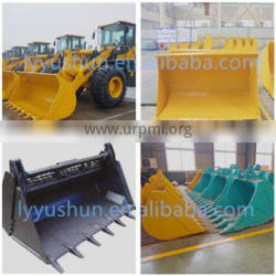 XCMG 1.6Ton Wheel Loader 0.86M3 Capacity Bucket For LW160, Log Grapple/Grass Grapple/Snow Plow/Pallet Fork For LW160