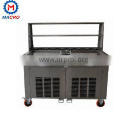 Mobile Single Square Pan With 1 Barrel Match Type Fried Ice Cream Roll Machine
