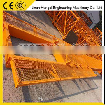 QTD tower crane for construction fixed luffing jib tower crane price from China manufacturer
