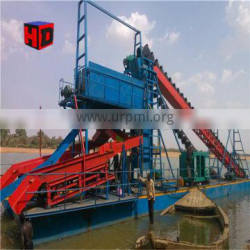 River sand dredging and bucket chain gold dredger