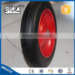 Alibaba express Solid 2 Wheels wagon cart wheel Rubber Wheelbarrow wheel 14x3.50-8