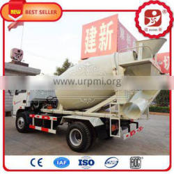 Automatic long using high mixing quality self loading concrete mixer trailer
