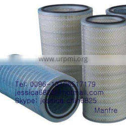 plated type dust removal filter element pleated dedusting removal filter cartridge