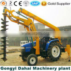 Hydraulic digger on Cobblestone soil layer