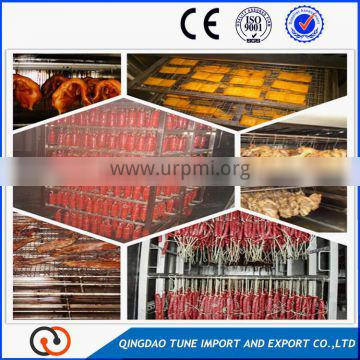commercial chicken meat smoking machine/fish smokehouse/meat smoke oven for sale