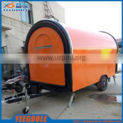 Unique design customized size food cart trailer for sale/snack sale food cart CE