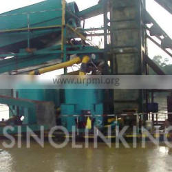 SINOLINKING Gold Mining Bucket Dredger Gold Refining Washing Machine