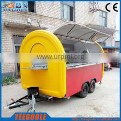 Made in china street fast food cart/catering food trailer/concession food van with CE and braking system for sale YG-LSS-02