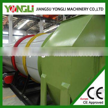 low energy consumption grinded wood powder drum dryer with CE certificate
