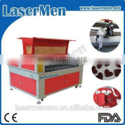 nonmetal 100w fabric CCD co2 laser cutter for sale LM-1290