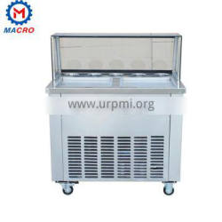 Professional Durable Single Pan And Double Pan Stir Fry Ice Cream Machine/flat Two Pan Fried Ice Cream Machine
