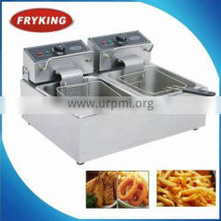 1 year's warranty countertop electric dual tanks deep fryer