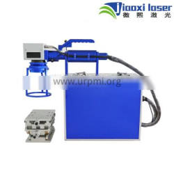 Jiaoxi 30W Fiber Laser Marking Machine with Conveyor For Metal