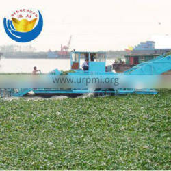 water Reed harvester dredge in water