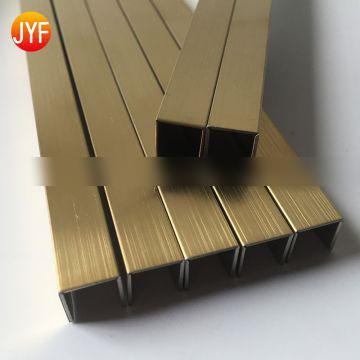 Stainless steel u-trim Stainless steel trim for hotel projects