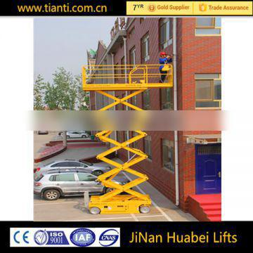 Construction companies hydraulic lift building cleaning platform
