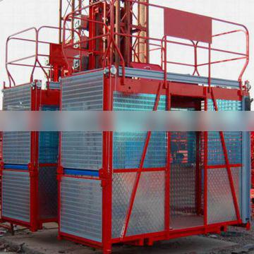 single cage and double cages construction elevator/single cage building construction elevator