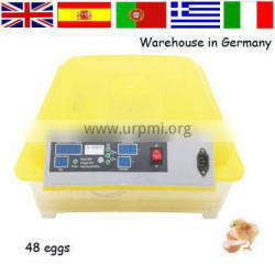 With cheap price automatic mini size used poultry incubator 48 eggs hatching machine for sale