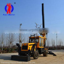 13.5m wheeled rotary pile drilling rig from HuaxiaMaster direct supply/fast speed construction pile driver