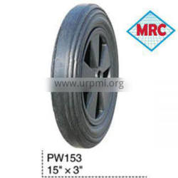 "PW153 non-pneumatic rubber wheel tyre 15"" x3"" PROMOTION"