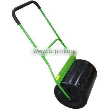 Green water filled small steel roller