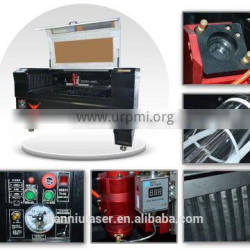 CE,FDA certification 1300*900mm HQ-1390 co2 laser cutting machine with the dust cover for metal and non-metal