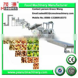 peanut frying production line/fried peanuts making machine