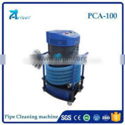 Pipe sewer inspection air duct cleaning brushing machine with cable