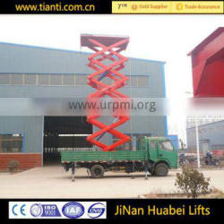 CE certification 10m self-propelled articulated boom lift truck mounted aerial work platform