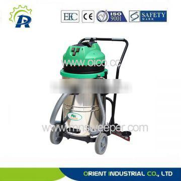 hotel cleaning 30L wet and dry stainless steel hand push vacuum cleaner with blow function