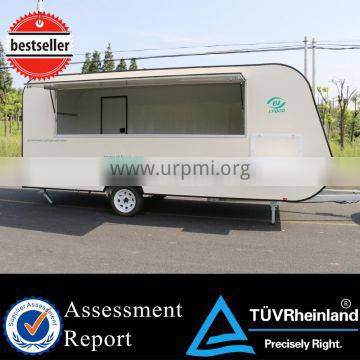 2015 hot sales best quality food trailer for USA standard food trailer for Austrlia standard pearl pannel food trailer